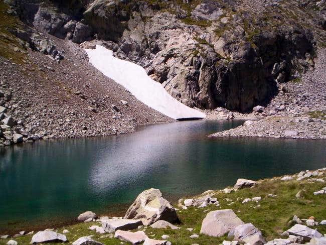 Small lake of Lliterola on...