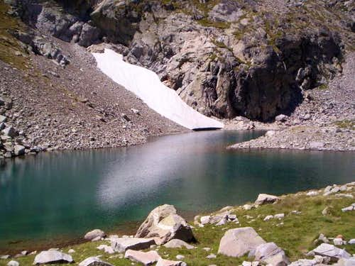 Small lake of Lliterola on...