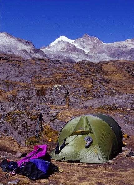 camp near Laguna Chillata...