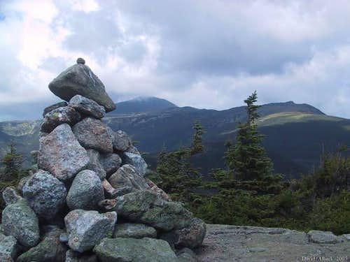 The summit cairn on Mt...
