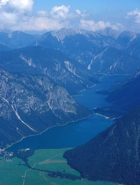 Plansee lake and Ammergau...