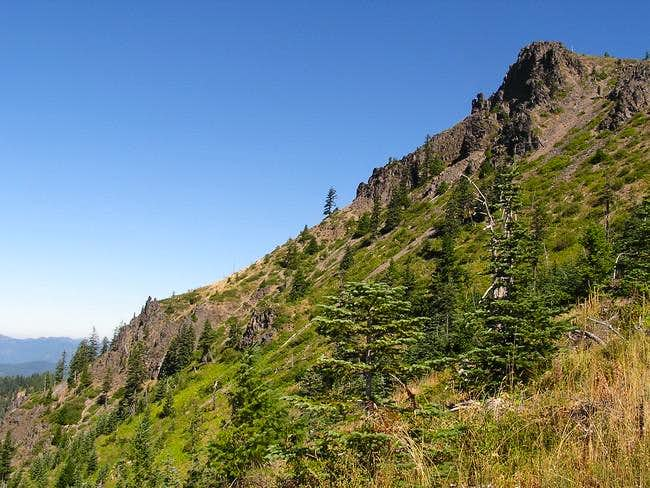 Craggy southwest side of the...