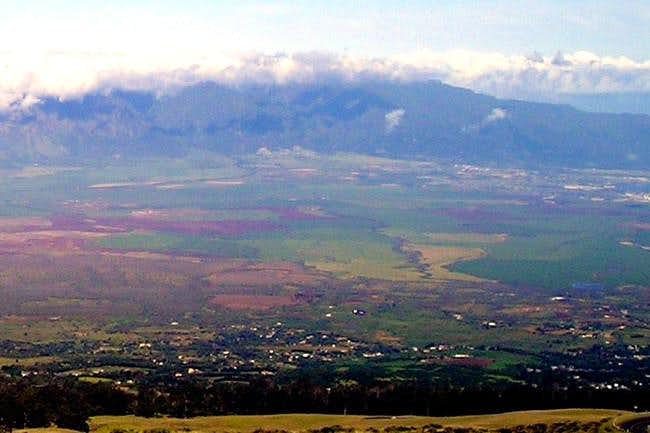 Northwest view of Puu Kukui...