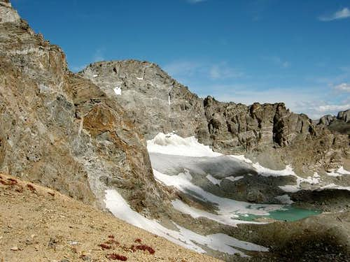 Arapaho Glacier on the...