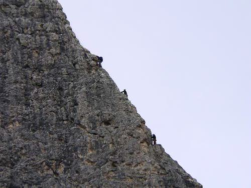 Climbers in Torre Piccola del...