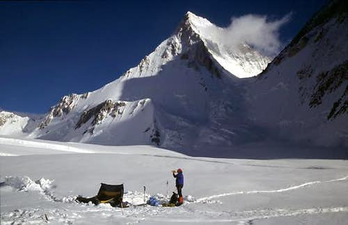 Gasherbrum IV seen from the...