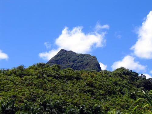 Mount Olomana looks imposing...