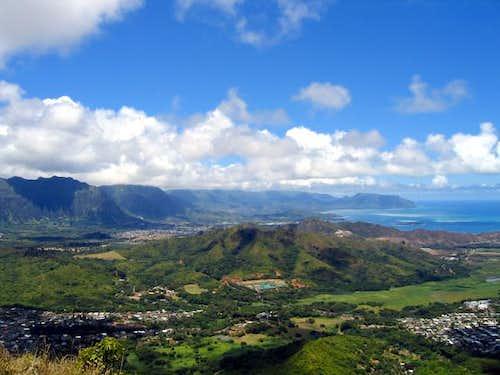 Looking across crowded Oahu...