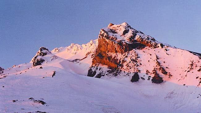 Alpenglow on the south side...