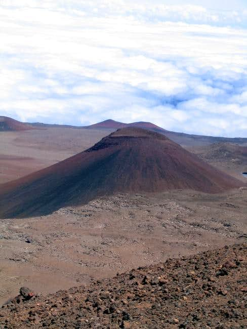 A volcanic cinder cone north...
