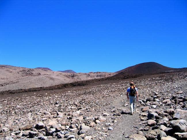 Me walking the Mauna Kea...