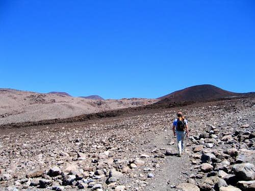 Me walking the Mauna Kea...