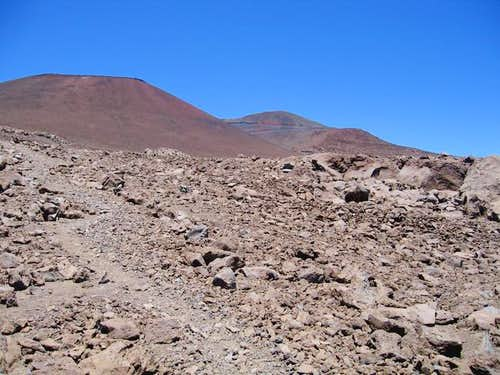 The summit area of Mauna Kea...