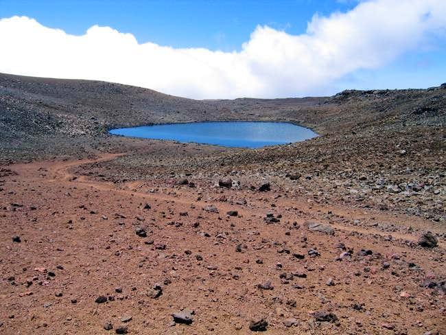 Lake Wai'au, the...