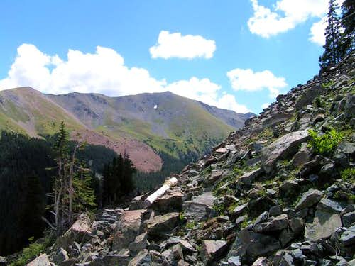 View of Wheeler Peak from NE...