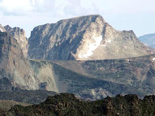 McHenrys Peak seen from Wild Basin