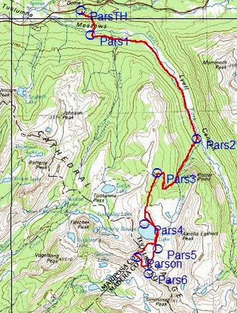 Topo of the route from...
