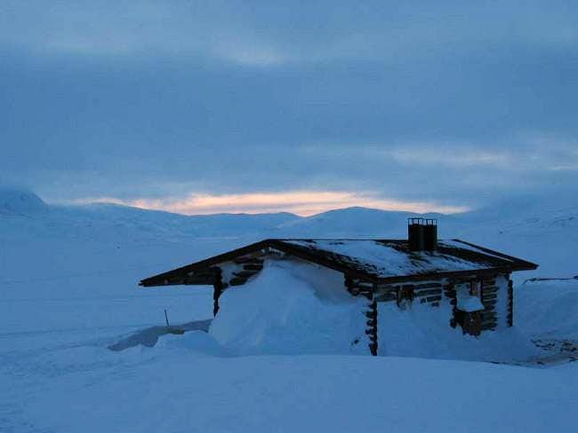 A typical hut, this one at...