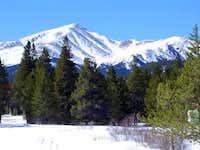 Here's Mount Elbert in March...