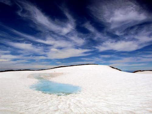 South Sister, the crater...