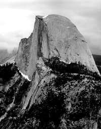 Half Dome, from Glacier...