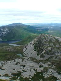 Looking down from Errigal to...