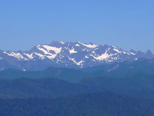 The Olympic Mountain Range...