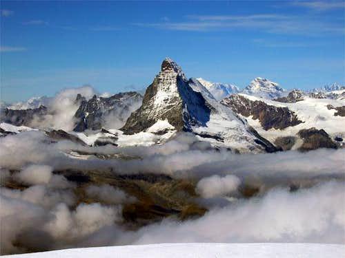 vu du Rimpfischsattel (4001m)