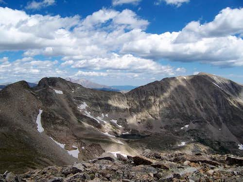 View north from the summit of...