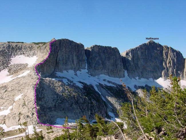 The NE Ridge is highlighted...