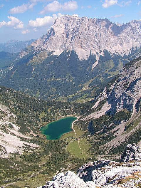 Zugspitze with the lake...