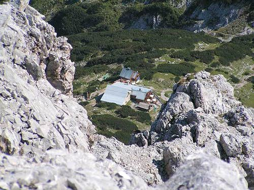 Coburger hut from far above...