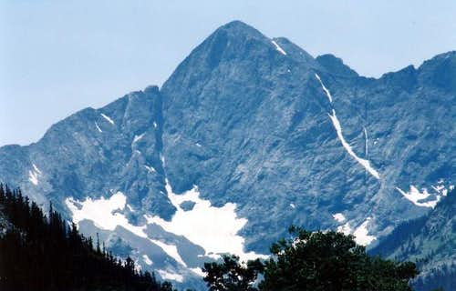 Close up of Gash Ridge and...