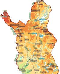 Topographic map of Finland....