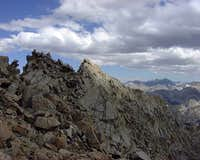 A view east along the summit...