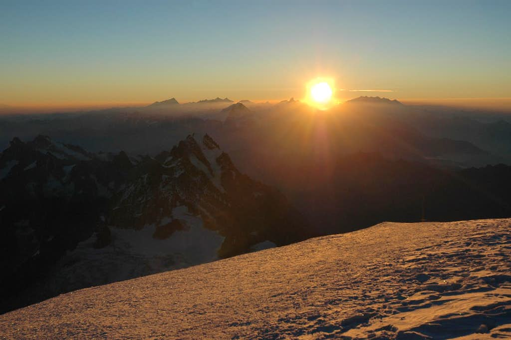 Sunrise at Mont Blanc