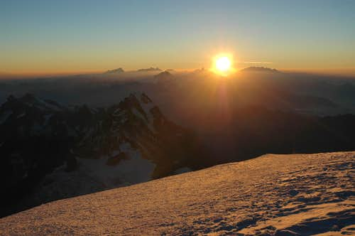 Sunrise at Mont Blanc