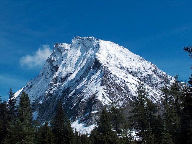Gusty Peak on approach,...
