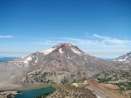 South Sister from high on...