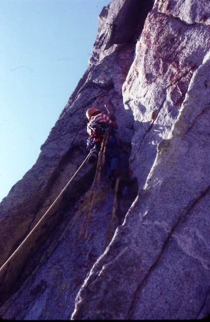 Pitch 5 on the 1st ascent of...