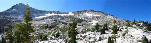 Panorama shot of Snow Peak...