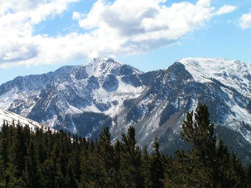 Lake Fork Peak (left) and...