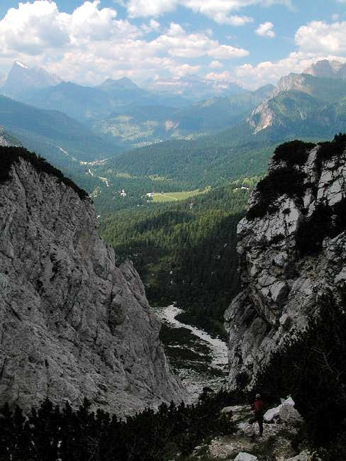The lower Val d\'Arcia, whith...