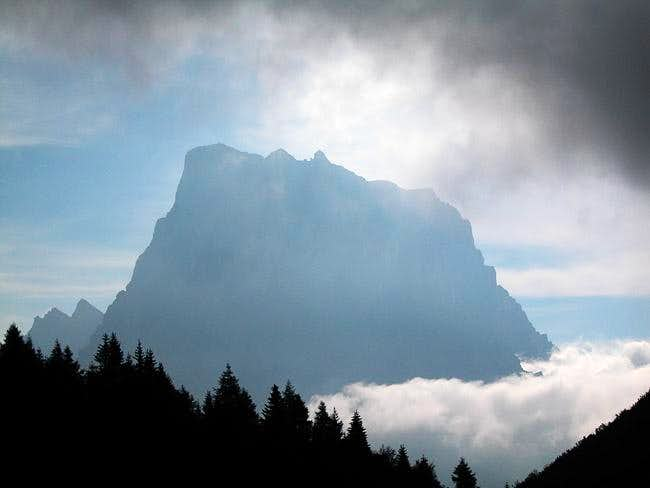 Shadow of Monte Pelmo in the...