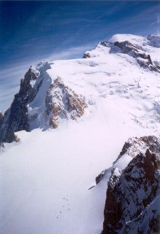 Mont Blanc summit and the...