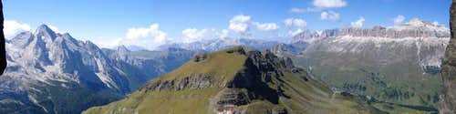 The view from the Via Ferrata...