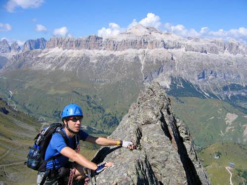 On the Via Ferrata delle...