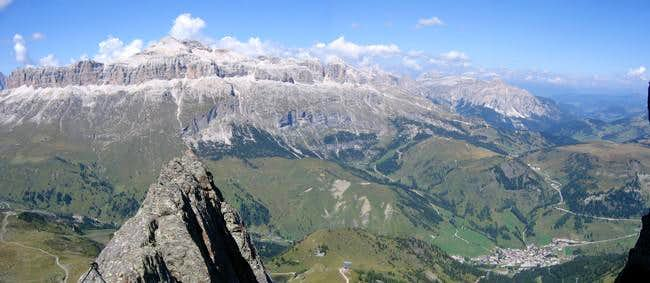 The view of Piz Boe from the...