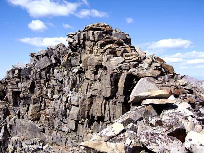 Craig Peak, summit blocks