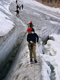 Crevasses along the normal...